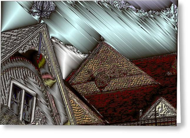Historic Home Greeting Cards - Victorian Home Greeting Card by Peter Hogg