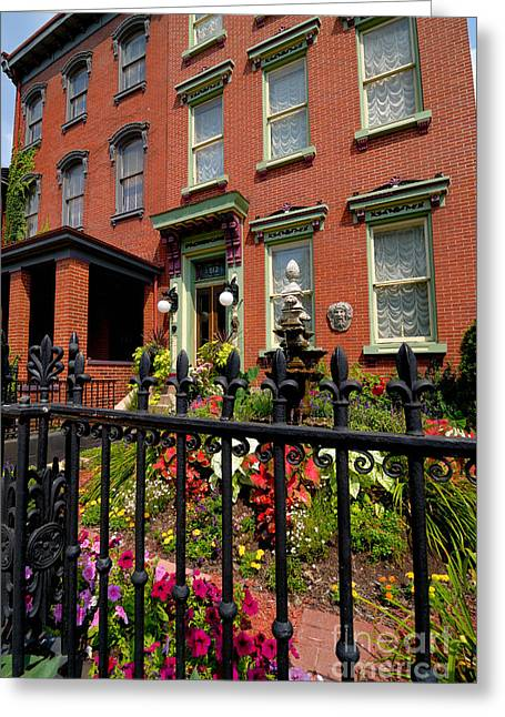 Allegheny Greeting Cards - Victorian Homes in Pittsburghs Mexican War Streets Greeting Card by Amy Cicconi