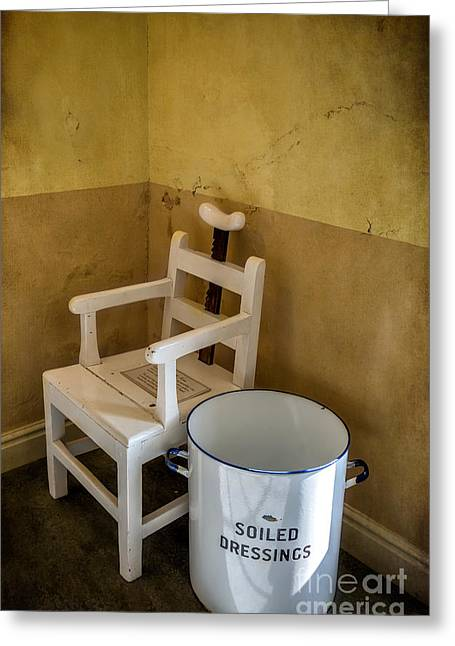 Equipment Greeting Cards - Victorian Hospital Chair Greeting Card by Adrian Evans