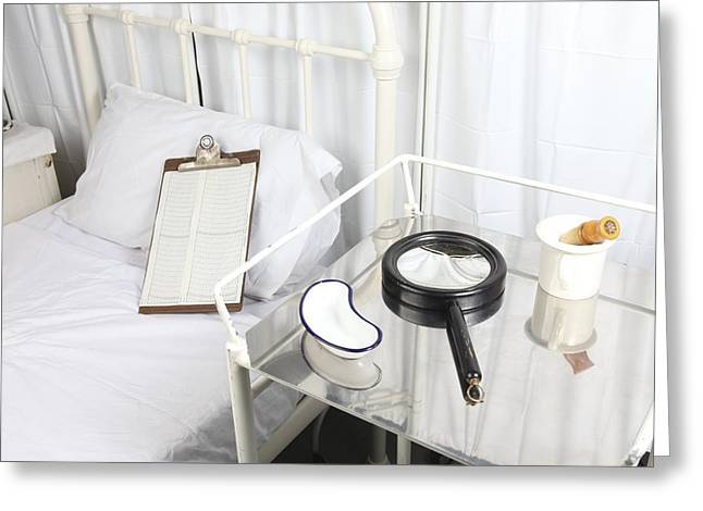 Bedside Table Greeting Cards - Victorian hospital Greeting Card by Science Photo Library