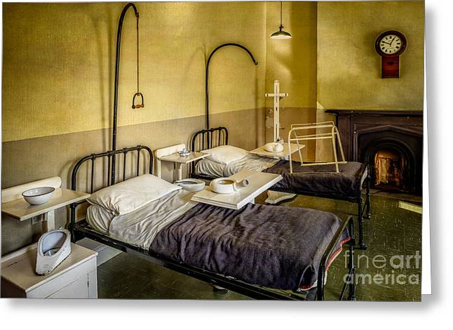 Medical Greeting Cards - Victorian Hospital Ward Greeting Card by Adrian Evans