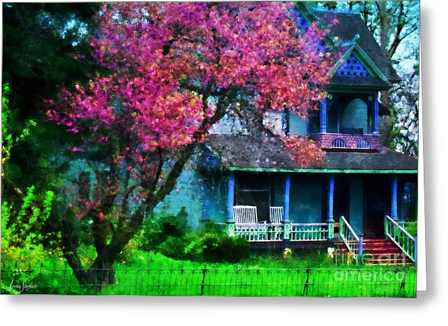Old House Photographs Digital Greeting Cards - Victorian House Greeting Card by Anna Surface
