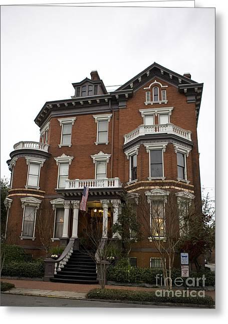 Historic Architecture Greeting Cards - Victorian house Savannah Greeting Card by Jason O Watson