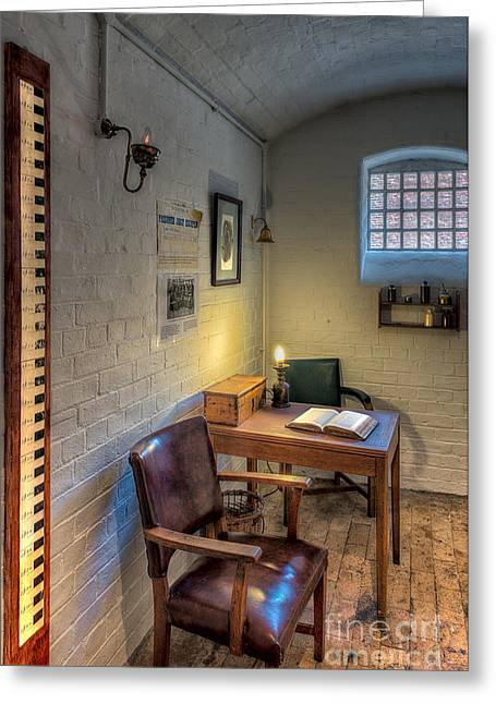 Empty Chairs Digital Greeting Cards - Victorian Jail Office Greeting Card by Adrian Evans
