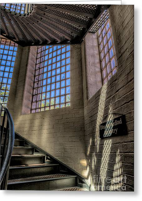 Facility Greeting Cards - Victorian Jail Staircase Greeting Card by Adrian Evans