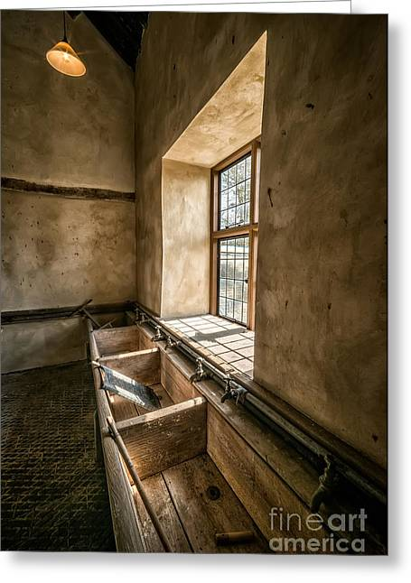 Tap Greeting Cards - Victorian Laundry Room Greeting Card by Adrian Evans
