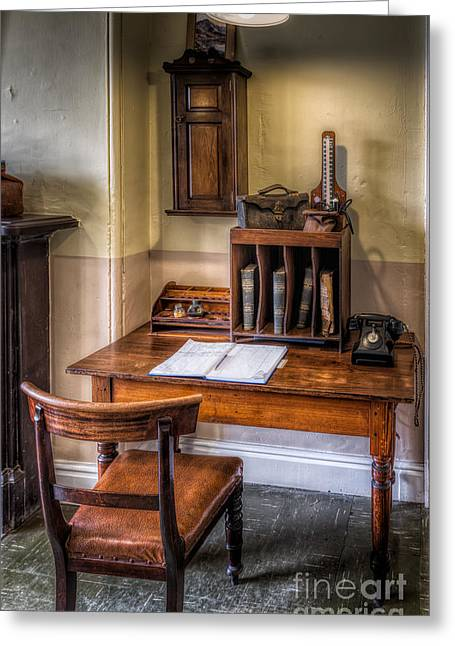 Pharmacist Digital Greeting Cards - Victorian Medical Office Greeting Card by Adrian Evans