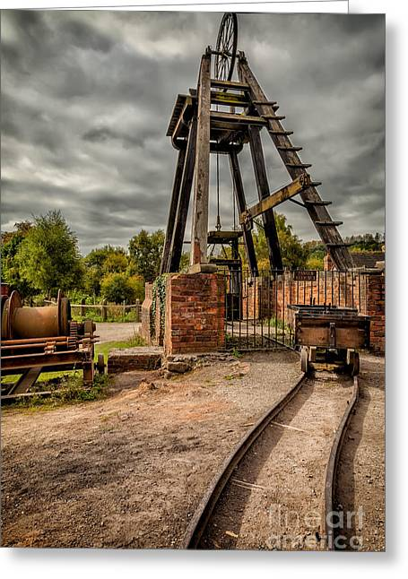 Coalmine Greeting Cards - Victorian Mine Greeting Card by Adrian Evans