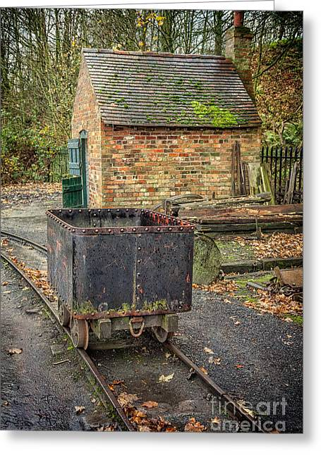 Coalmine Greeting Cards - Victorian Mining Cart Greeting Card by Adrian Evans