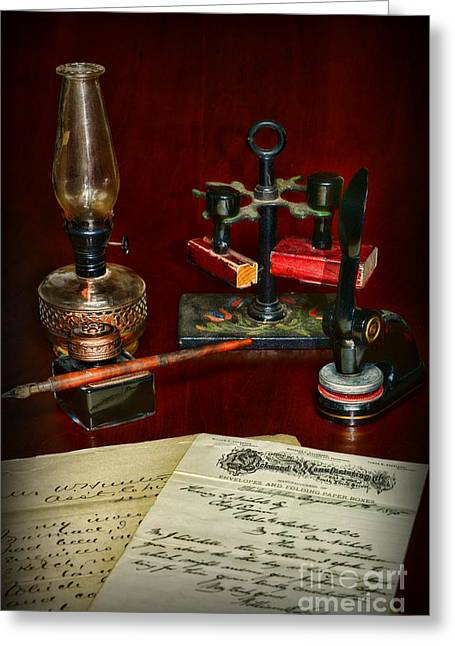 Victorian Office Greeting Card by Paul Ward