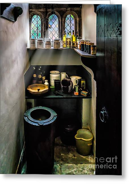 Water Jug Greeting Cards - Victorian Pantry Greeting Card by Adrian Evans