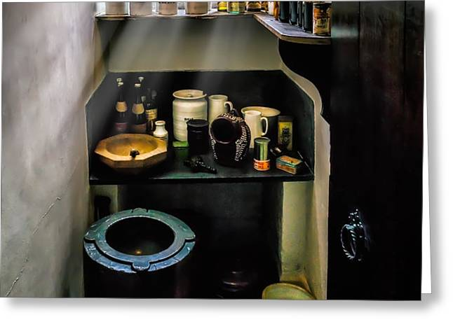 Victorian Pantry Greeting Card by Adrian Evans