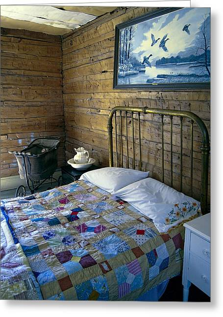 Old Pitcher Greeting Cards - Victorian Pioneer Master Bedroom Greeting Card by Daniel Hagerman