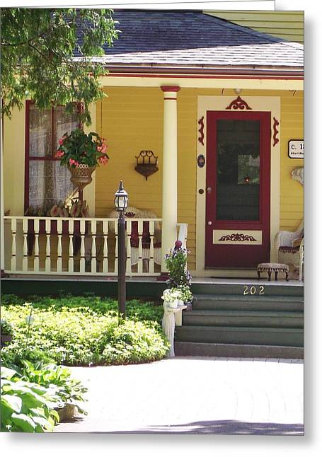 Screen Doors Greeting Cards - Victorian Porch Greeting Card by Michelle Welles