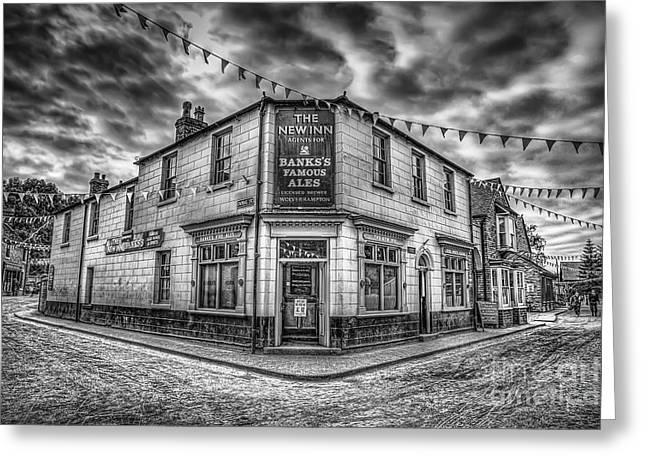 Signed Digital Greeting Cards - Victorian Pub Greeting Card by Adrian Evans