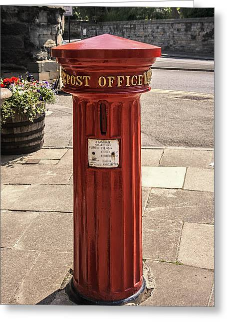 Pillar Box Greeting Cards - Victorian Red Postbox Greeting Card by Nomad Art And  Design
