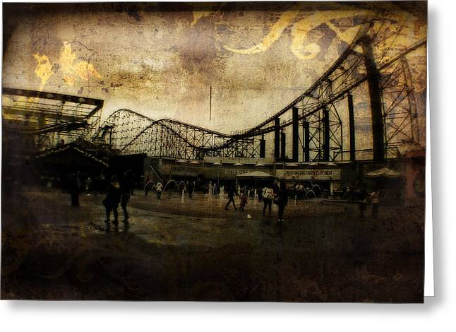 Victorian Roller Coaster - Circa 2014 Greeting Card by Doc Braham