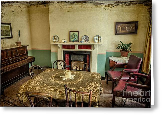 Front Room Digital Art Greeting Cards - Victorian Room Greeting Card by Adrian Evans