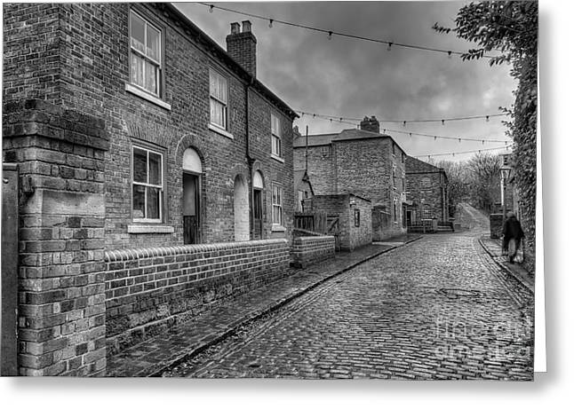 Alleys Greeting Cards - Victorian Street Greeting Card by Adrian Evans