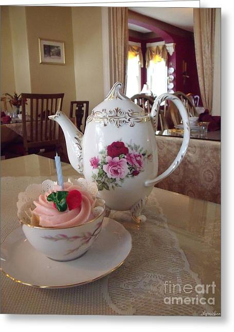 First Love Greeting Cards - Victorian Tea Party Greeting Card by Lyric Lucas