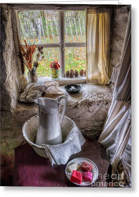 Packaged Greeting Cards - Victorian Wash Area Greeting Card by Adrian Evans