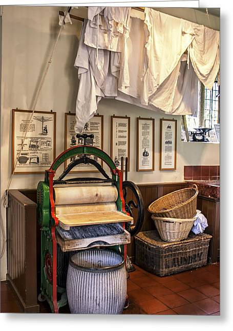 Drying Rack Greeting Cards - Victorian Washing Day Greeting Card by Nomad Art And  Design
