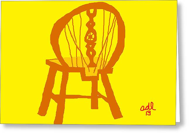 Country Cottage Drawings Greeting Cards - Victorian Wheelback Chair Greeting Card by Anita Dale Livaditis