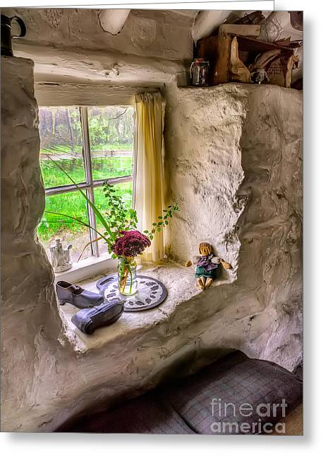 Mug Digital Art Greeting Cards - Victorian Window Greeting Card by Adrian Evans