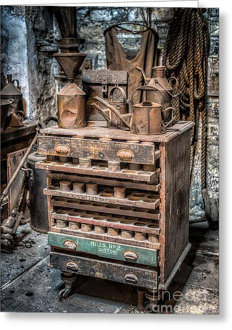 The North Digital Art Greeting Cards - Victorian Workshop Greeting Card by Adrian Evans