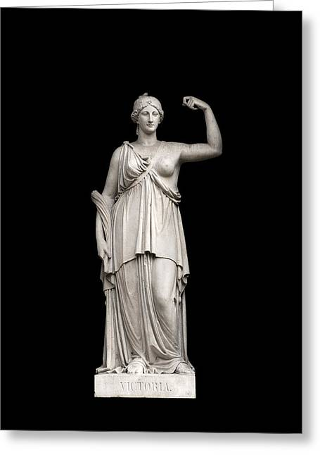 Sculpture Art Greeting Cards - Victory Greeting Card by Fabrizio Troiani