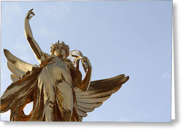 Greek Goddess Nike Greeting Cards - Victory Far Greeting Card by Nicholas Miller