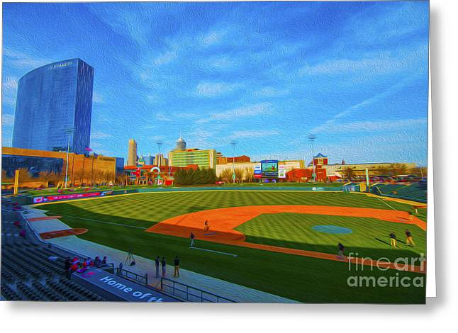Minor League Greeting Cards - Victory Field 1 Greeting Card by David Haskett