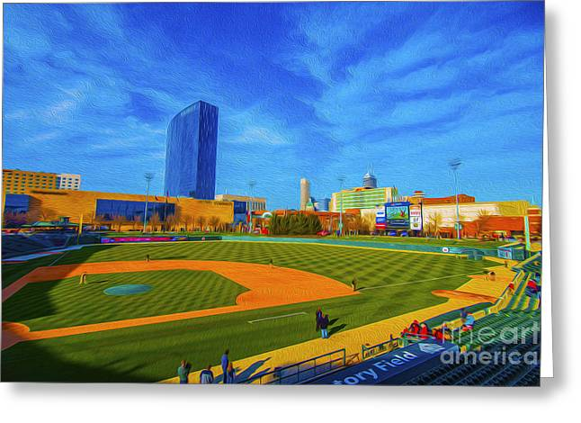 Minor League Greeting Cards - Victory Field 2 Greeting Card by David Haskett