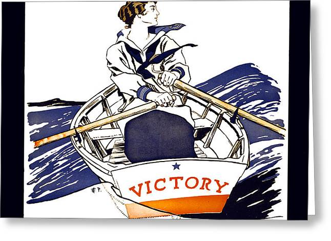 VICTORY GIRLS of W W 1     1918 Greeting Card by Daniel Hagerman
