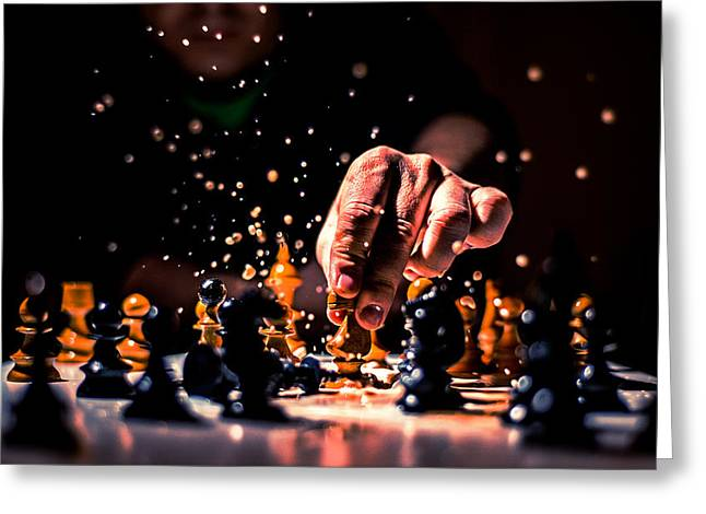 Chess Rook Greeting Cards - Victory Greeting Card by Ivan Vukelic