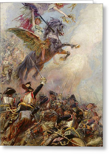 Victory Greeting Cards - Victory Greeting Card by Jean-Baptiste Edouard Detaille