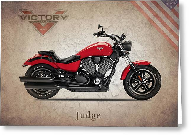 Victory Greeting Cards - Victory Judge Greeting Card by Mark Rogan