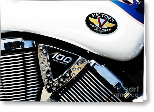 V Twin Greeting Cards - Victory Motorcycle  Greeting Card by Tim Gainey