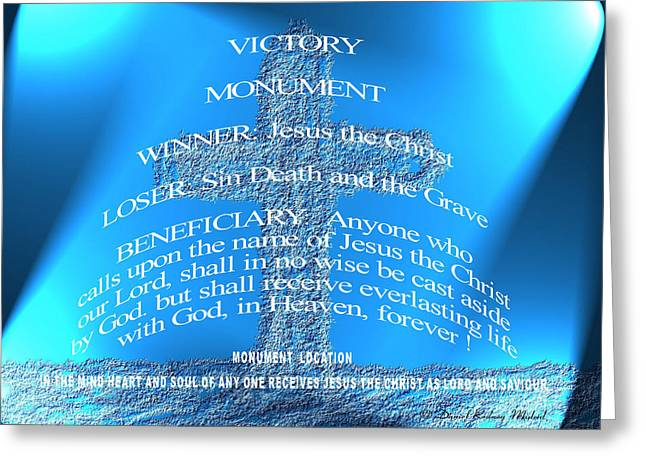 Victory Mounument Greeting Card by Daniel Madrid
