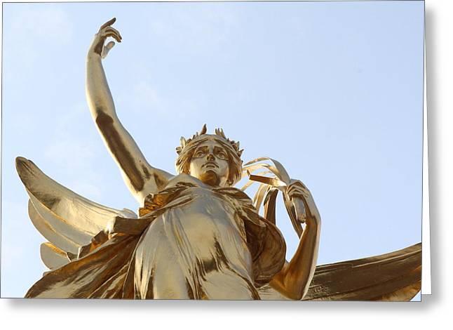 Greek Goddess Nike Greeting Cards - Victory Greeting Card by Nicholas Miller
