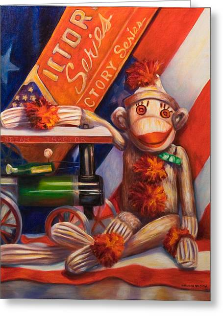 4th July Paintings Greeting Cards - Victory Greeting Card by Shannon Grissom