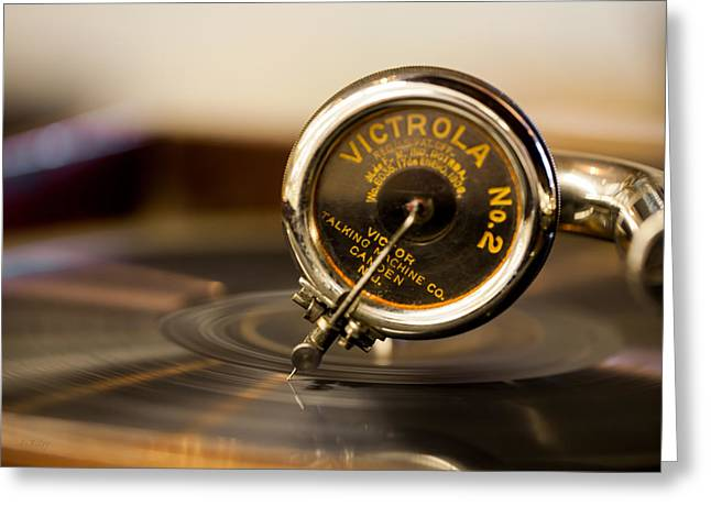Acoustical Photographs Greeting Cards - Victrola No 2 Greeting Card by Fran Riley