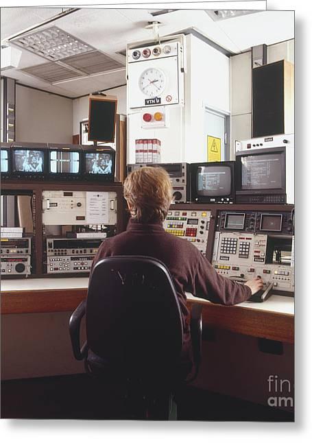 Control Panels Greeting Cards - Videpo Editing Engineer Greeting Card by Matthew Ward / Dorling Kindersley