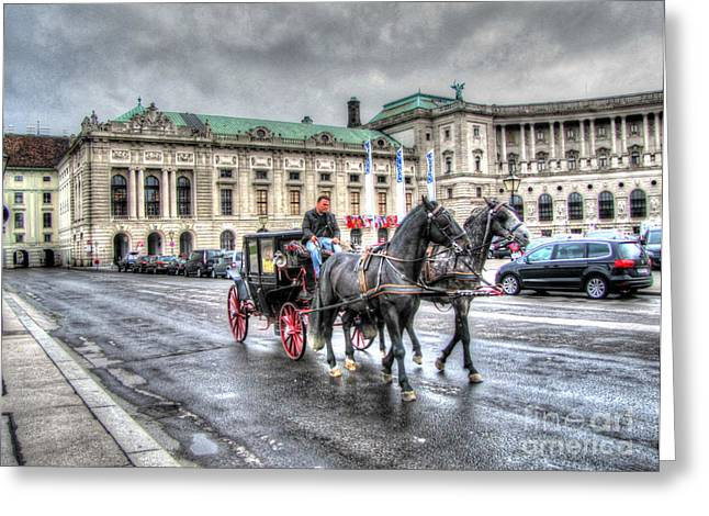 People Pyrography Greeting Cards - Vienna Austria Greeting Card by Yury Bashkin