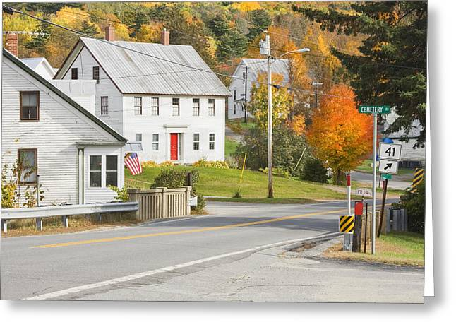 Rural Maine Roads Photographs Greeting Cards - Vienna Maine in Fall Greeting Card by Keith Webber Jr