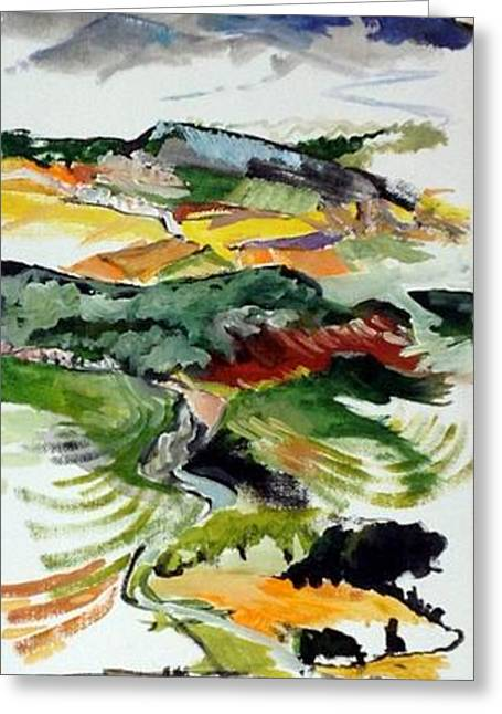 Provence Village Greeting Cards - Viens Greeting Card by Chris Irwin Walker