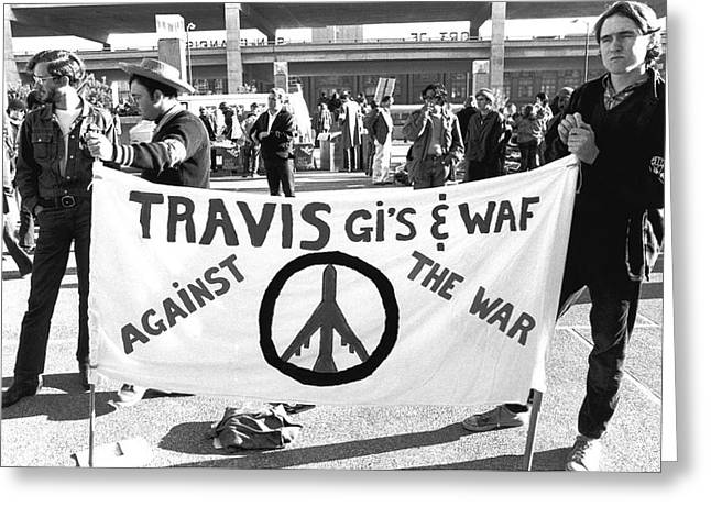 Protest Greeting Cards - Viet Nam War Protesters Greeting Card by Underwood Archives