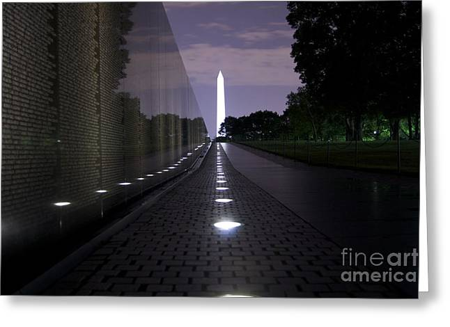 Solace Greeting Cards - Vietnam Memorial - 3190 Greeting Card by Chuck Smith