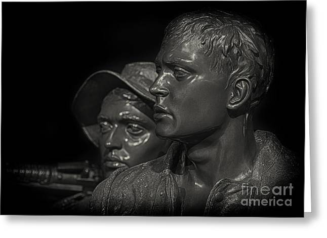 D.w. Digital Art Greeting Cards - Vietnam Memorial No. 1 Greeting Card by Jerry Fornarotto