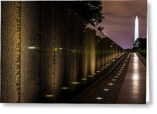 Civil Aviation Greeting Cards - Vietnam Veterans Memorial Greeting Card by David Morefield